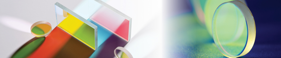 transparent geometric shapes with colored thin-film