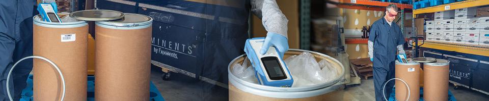 handheld raman spectrometer scanning raw material