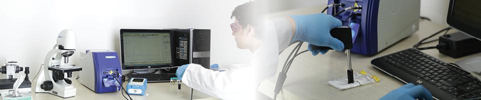 raman spectrometer testing sample