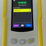 Figure 3 showing a TacticID handheld Raman analyzer with a match screen for methanol